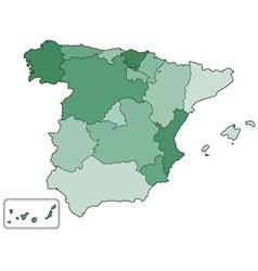 Spain contour map vector