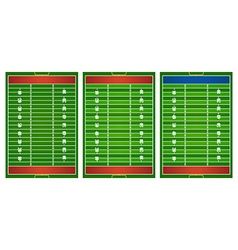 Football field in three design vector