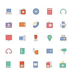 Electronics Colored Icons 1 vector image