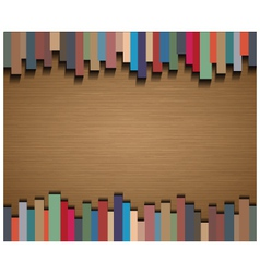 Abstract straight lines and brown paper background vector image