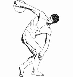 Antique sportsmen vector