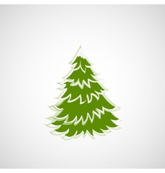Beautiful Christmas tree on a light background vector image