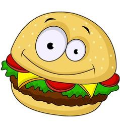 burger cartoon vector image vector image