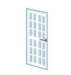 Door vector image
