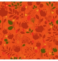 Graceful Autumn Flowers Fall Seamless Pattern vector image vector image