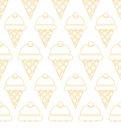 Ice cream pattern vector image vector image