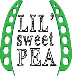 Lil sweet pea vector