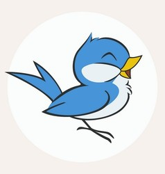 Little Blue Bird vector image vector image