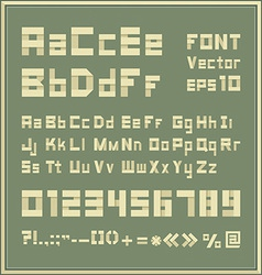 Paper font vector image vector image