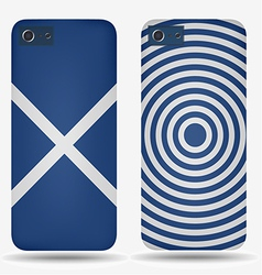 Rear covers smartphone with flags of scotland vector