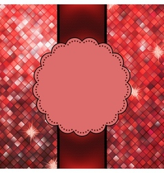 Red glitter sparkles snow flakes eps 10 vector