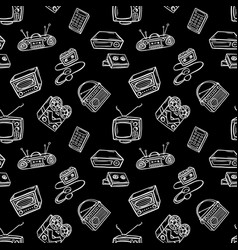 retro devices pattern vector image vector image