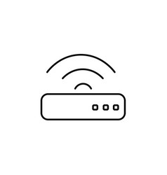 router icon vector image