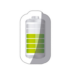 sticker battery symbol with level acumulator vector image
