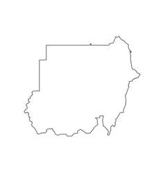Sudan map silhouette vector