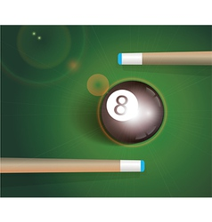 The eight ball billiard background vector