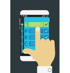 Todo mobile app vector