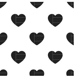 United arab emirates heart icon in black style vector