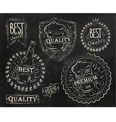 Beer quality elements vector