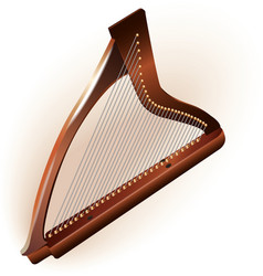 Traditional irish celtic harp vector