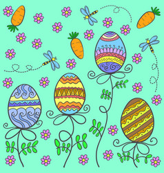 Doodle of easter egg style cartoon vector