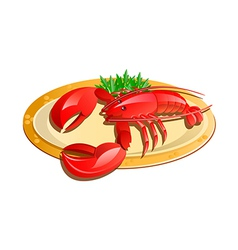 Icon lobster vector