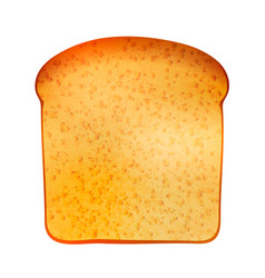 realistic tasty toast isolated on white vector image