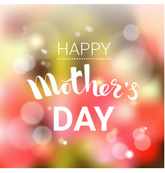 Happy mother day spring holiday greeting card vector