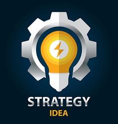 Strategy idea vector image