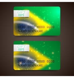 Set of gift cards with blurred effect in brazil vector
