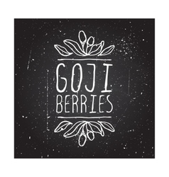 Herbs and spices collection - goji berries vector