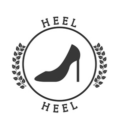 Heel pictogram vector