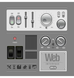 Web ui elements design gray vector