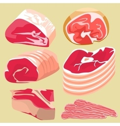 isolated meats product vector image