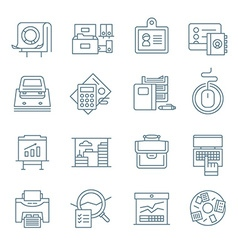Office life icons collection vector