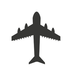 Airplane silhouette isolated icon design vector