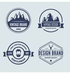 Set of logotypes elements labels badges vector