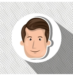Smiling face person design vector