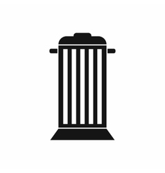 Street trash icon simple style vector