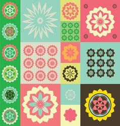 Life flower ornamental pattern vector