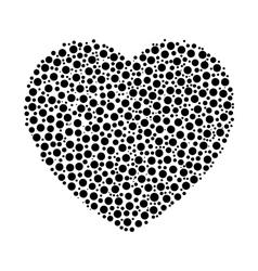 Heart mosaic of dots vector