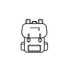 backpack line icon education and school element vector image vector image