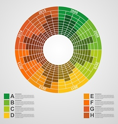 Business chart for infographic and reports vector