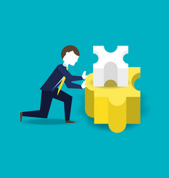 businessman working for the success concept vector image vector image