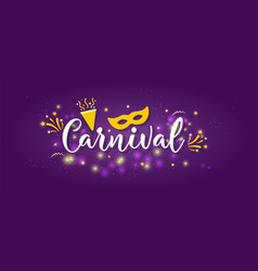 Carnival banner with icons vector