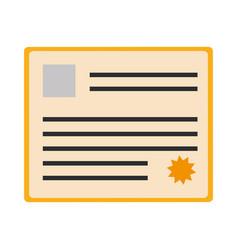 Certificate document icon vector