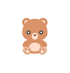 cute teddy bear icon flat design vector image