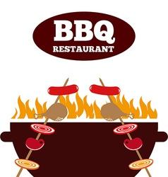 Delicious barbecue vector