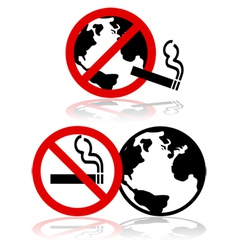 Global no smoking vector image vector image
