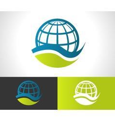 Green Eco Globe Icon vector image vector image